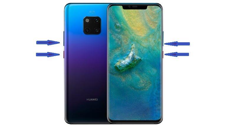 capturas en el Huawei Mate 20