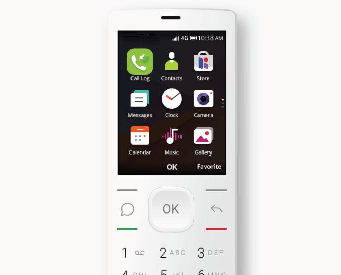 JioPhone blanco KaiOS android sistema operativo móvil antiguo