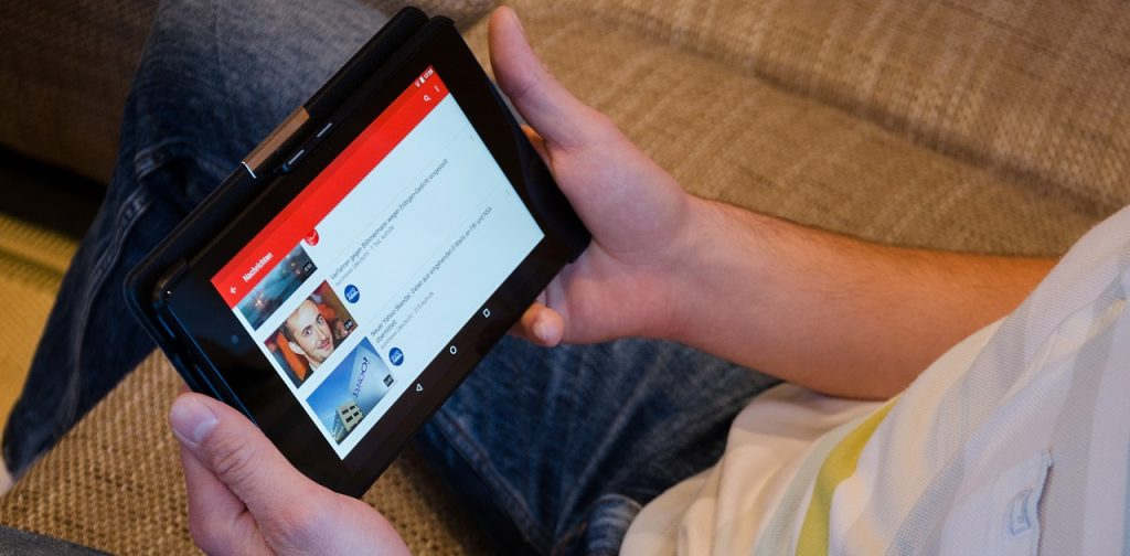 Tablet con Youtube
