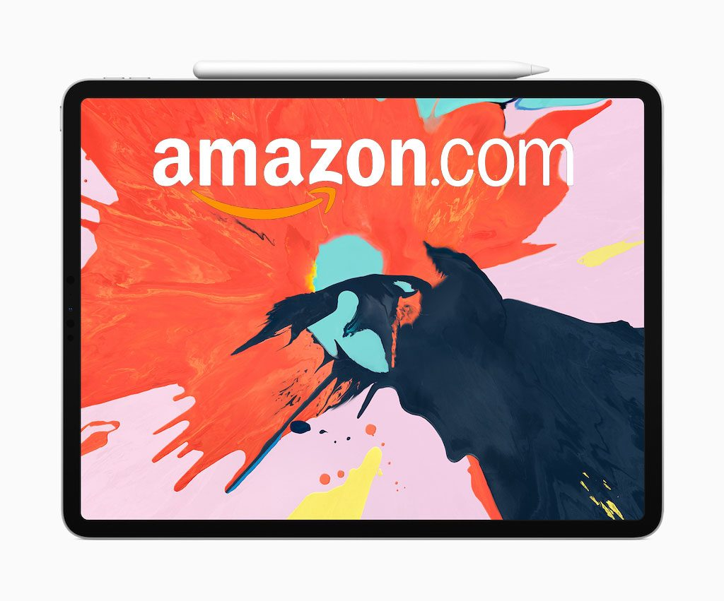 iPad con logo de Amazon