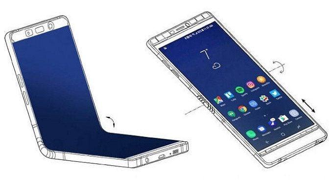 móvil con pantalla plegable de Samsung