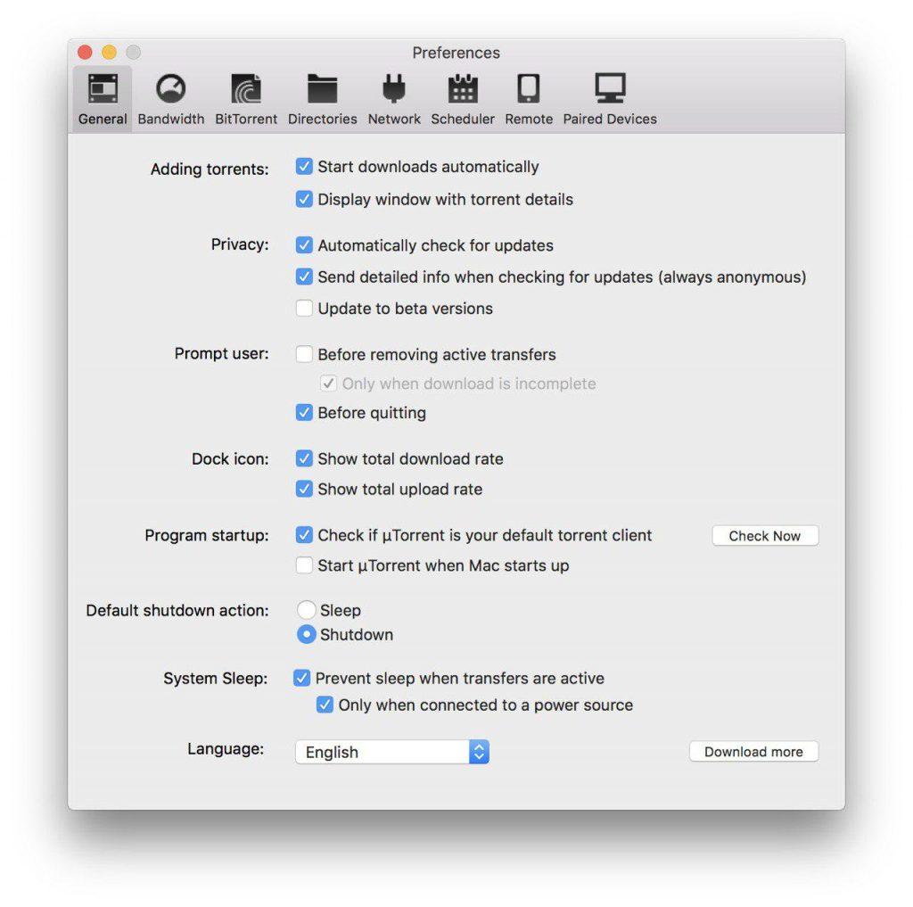 uTorrent se abre solo en Mac