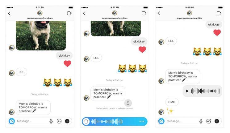 mensajes de voz en instagram