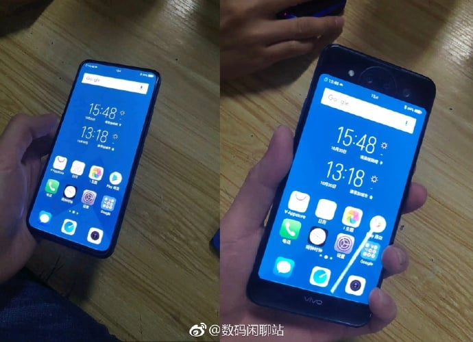 vivo nex 2 on hands