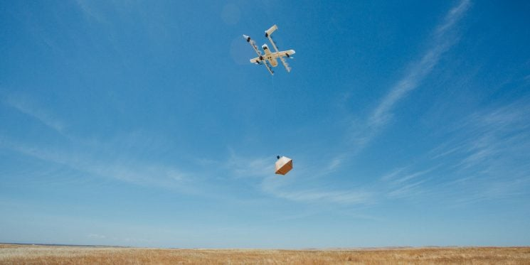 Wing drones Finlandia dron paquetes mensajería 2019