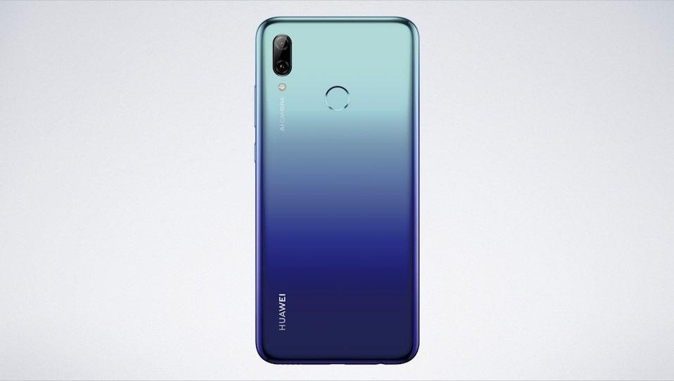 huawei p smart 2019 trasera aurora blue