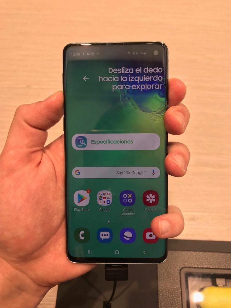 cómo hacer capturas de pantalla en el Samsung Galaxy S10 Plus