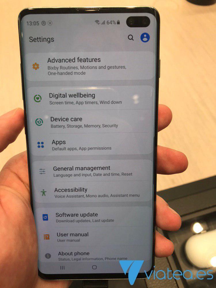 Ajustes Samsung Galaxy S10