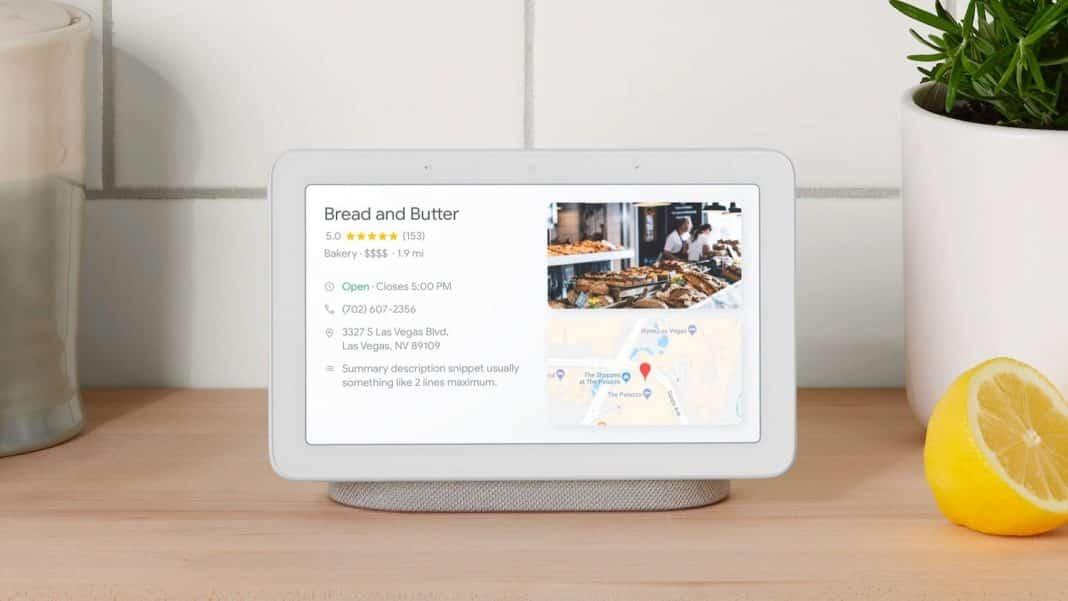 Google Nest Hub Max filtrado