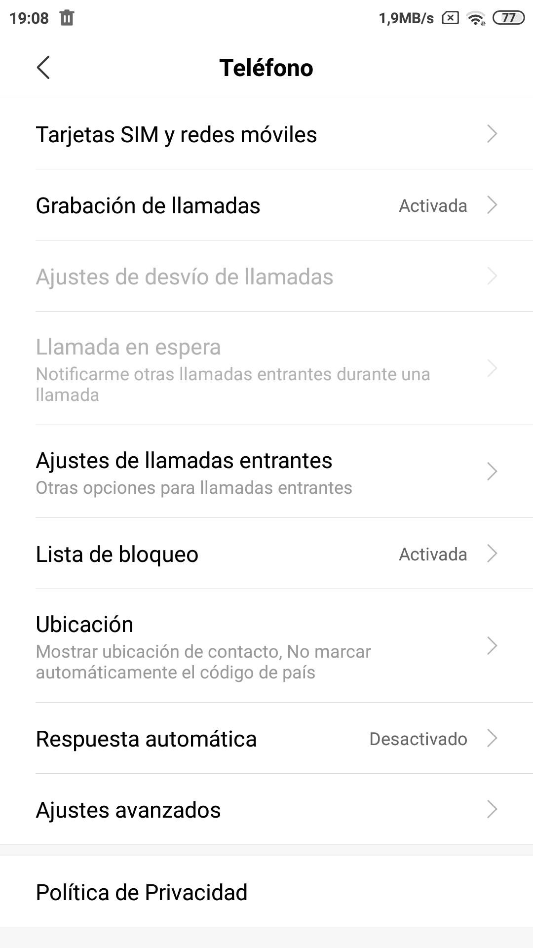 Grabar llamadas en Xiaomi Redmi (3)