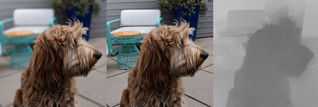 Imagen-perro-Android-Q-profundidad-3D