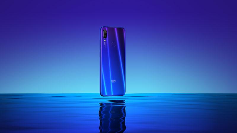 xiaomi redmi note 7 diseño azul