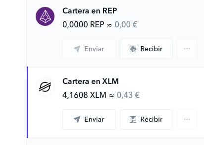 Cartera XLM Coinbase
