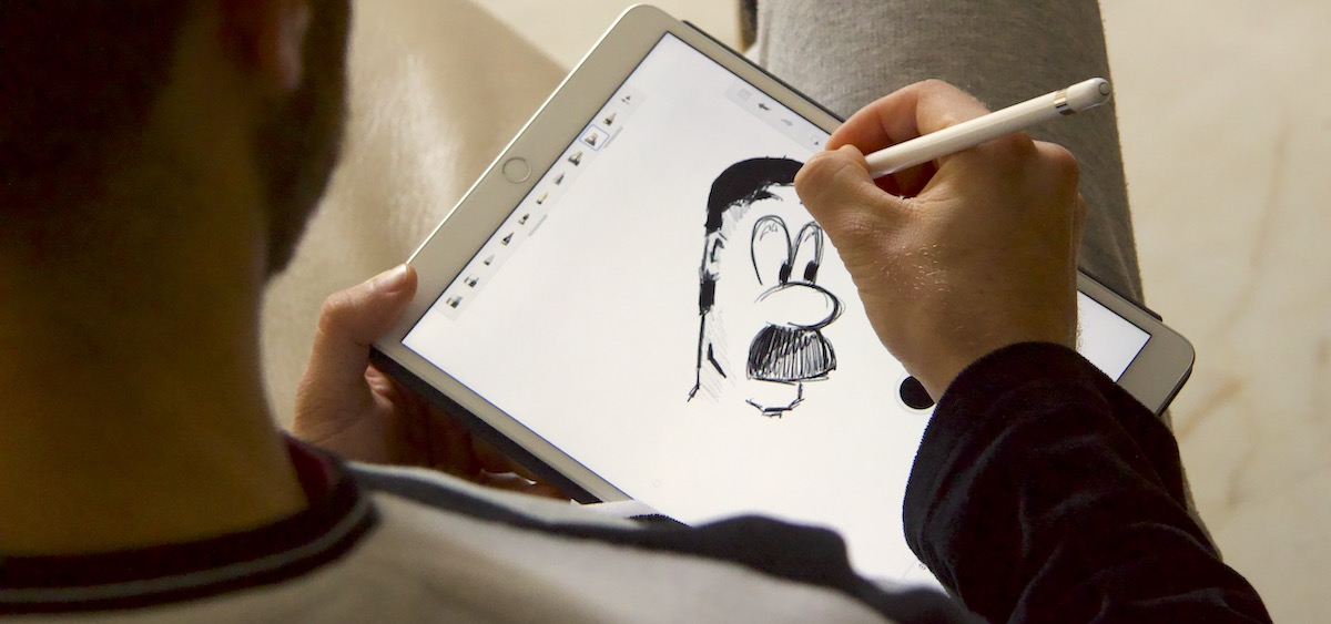 dibujo en el iPad Air