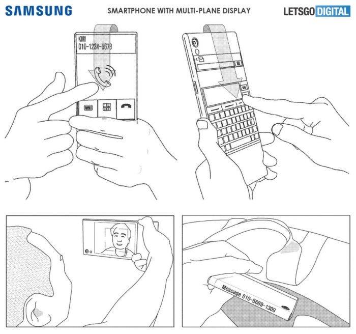 Samsung patente pantalla envolvente