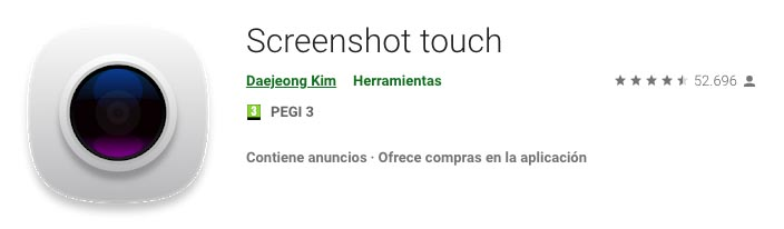 Screenshot Touch capturas de pantalla