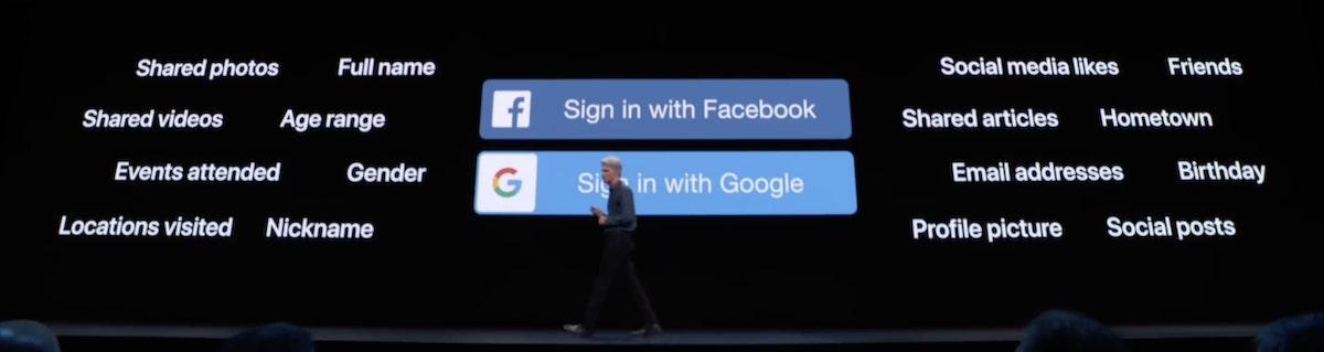 Iniciar sesión con Facebook o Google WWDC