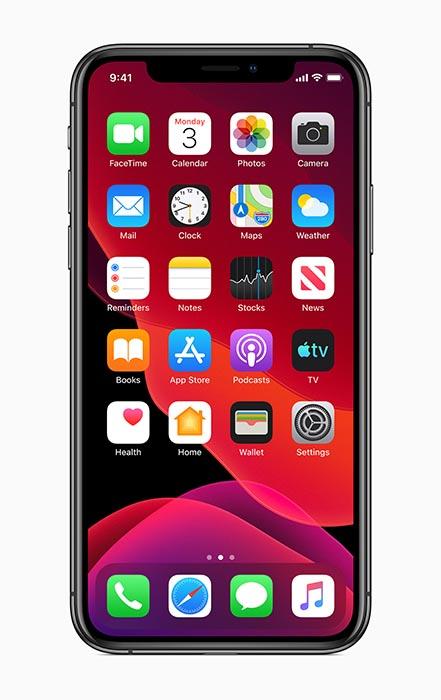 iOS 13 Home Screen Dark Mode