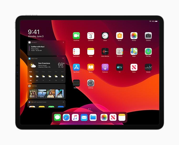 iPad OS Modo oscuro