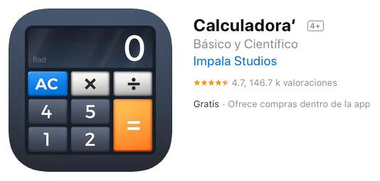 Calculadora´ app iPad