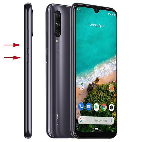 Xiaomi Mi A3 captura física