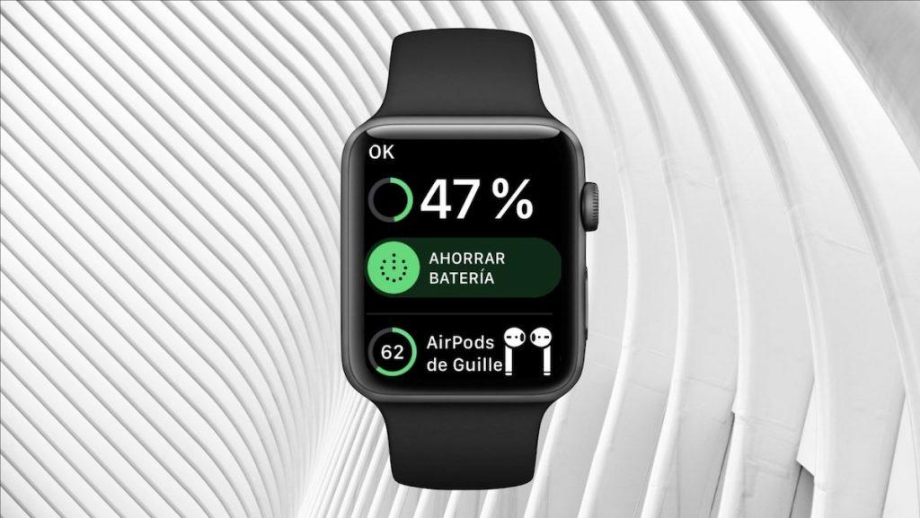 salir del modo ahorro de batería en el Apple Watch