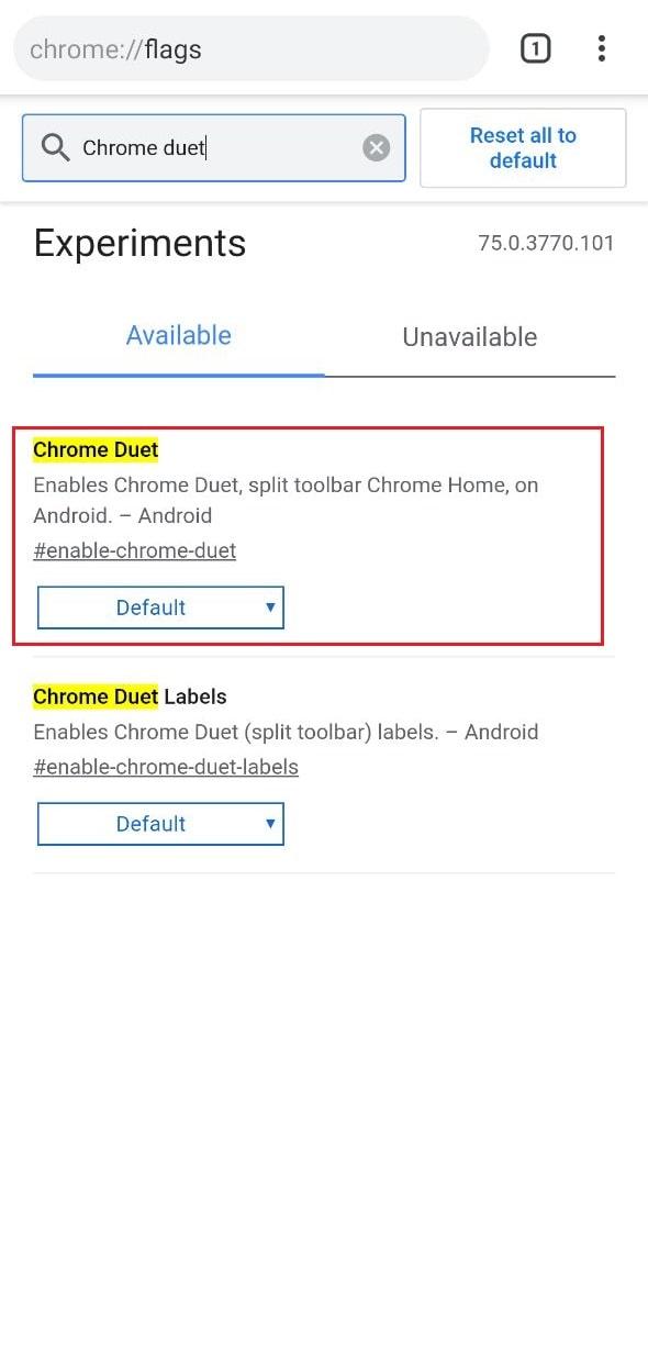 Chrome-duet-opciones