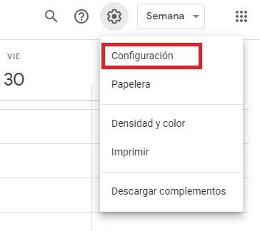 Google Calendar Configuracion