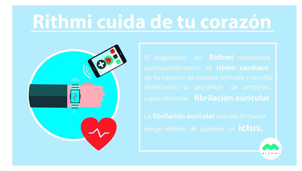 Rithmi monitorea constantemente el pulso cardíaco