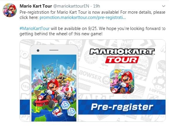 Tweet Mario Kart Tour