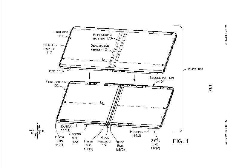 Microsoft pantalla plegable con líquido