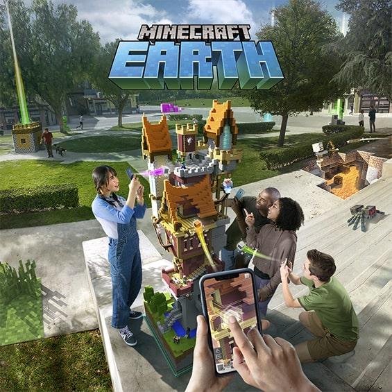 Jugabilidad de Minecraft Earth