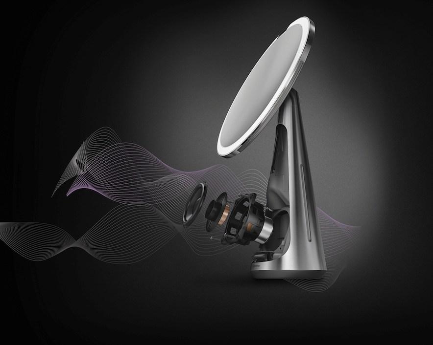 Altavoz de alta fidelidad incorporado en el Sensor Mirror Hi-Fi Assist