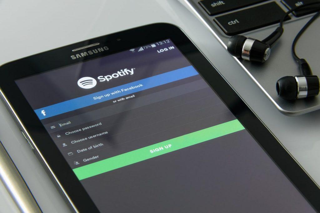 Spotify inicio de sesión