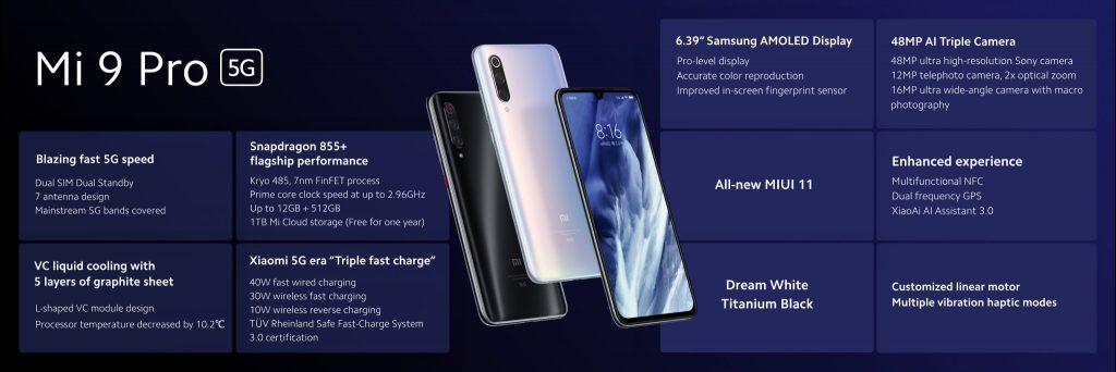 Xiaomi Mi 9 Pro 5G características