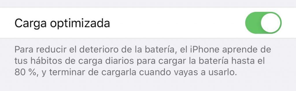 iPhone 11 Pro Max carga optimizada