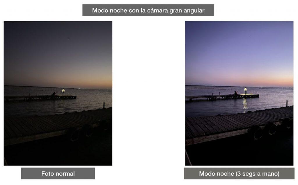 iPhone 11 Pro Max modo noche sin trípode