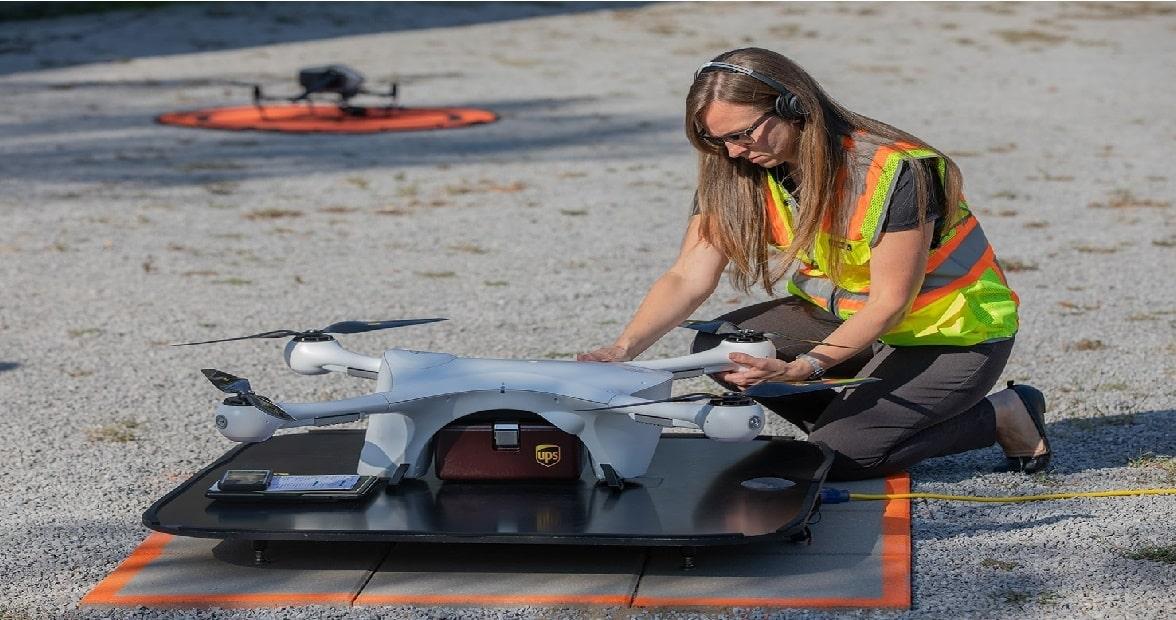 operador drones de entrega ups
