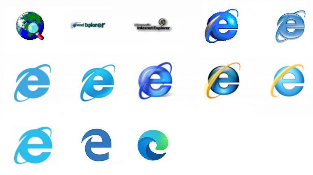 Edge Chromium nuevo logo ocmparación