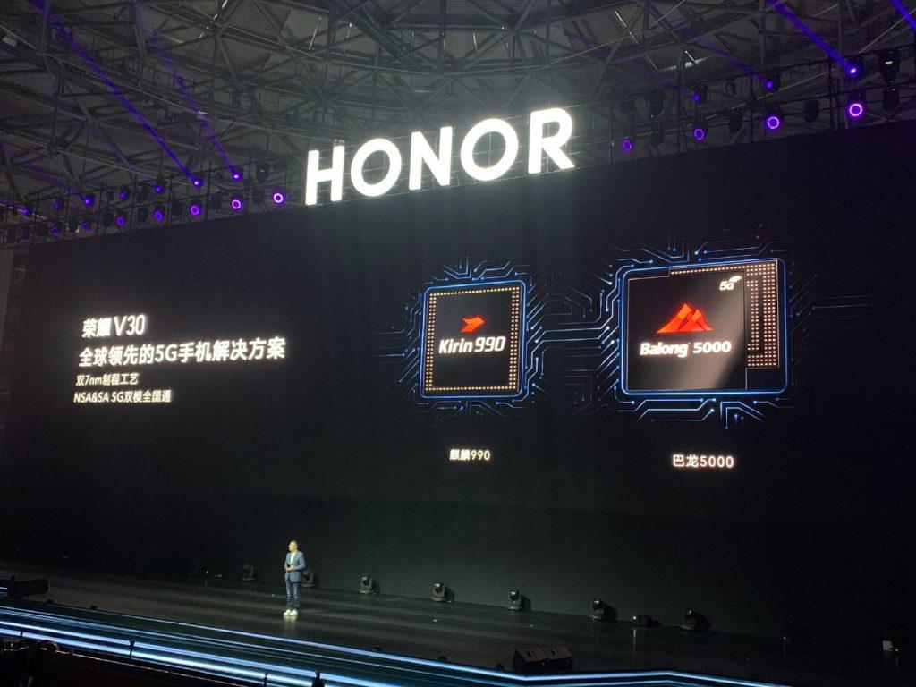 Honor V30 procesadores