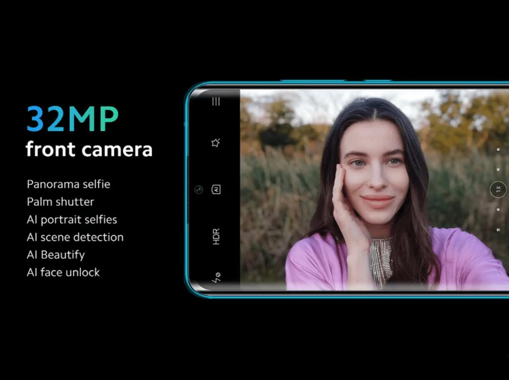 Xiaomi Mi Note 10 cámara delantera