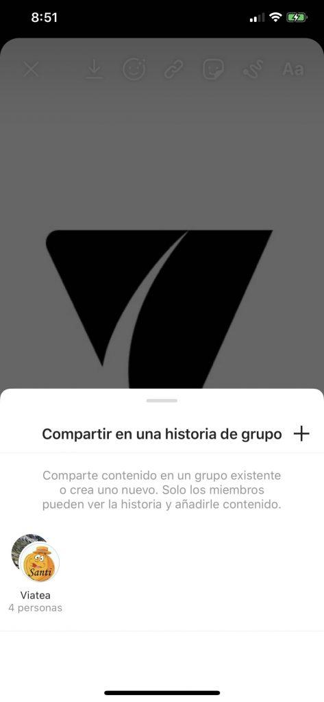 Crear historias de grupo en Instagram