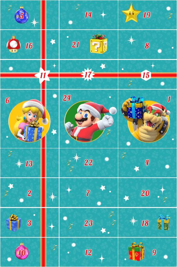 Nintendo Calendario de Adviento