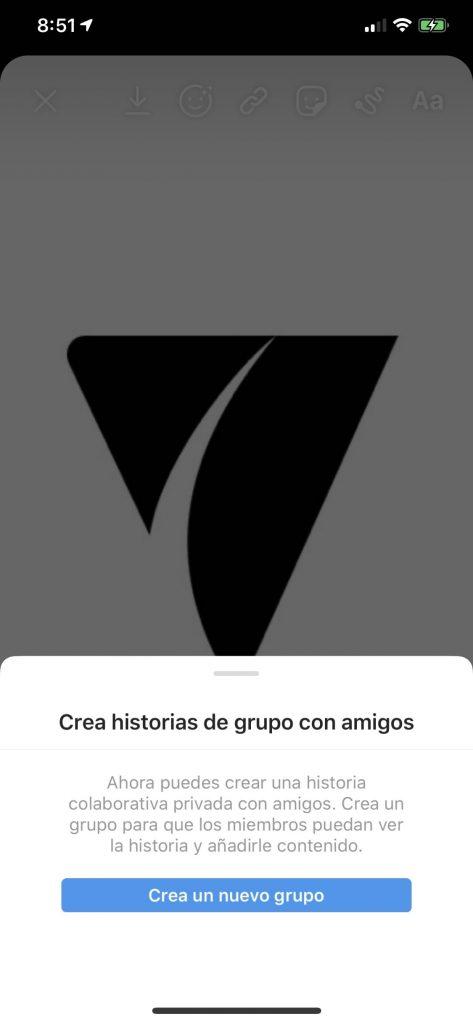 crear historias de grupo con amigos en Instagram