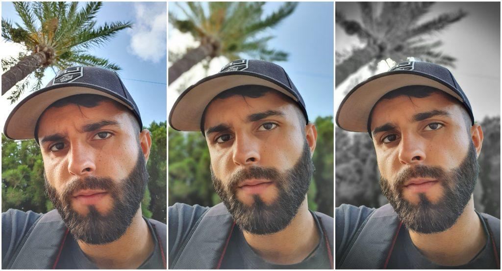 prueba modo retrato selfie