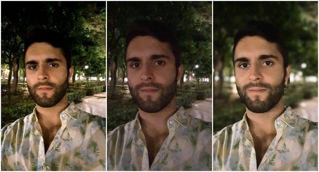 prueba selfies nocturnas galaxy s10e