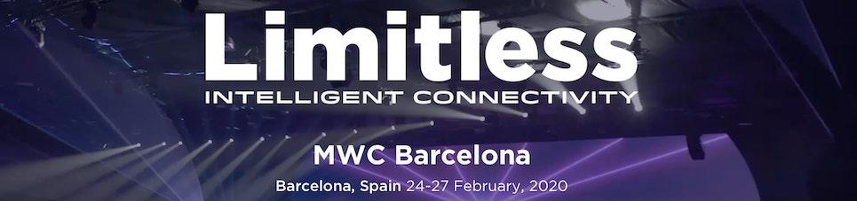 Mobile World Congress de Barcelona página de inicio 2020