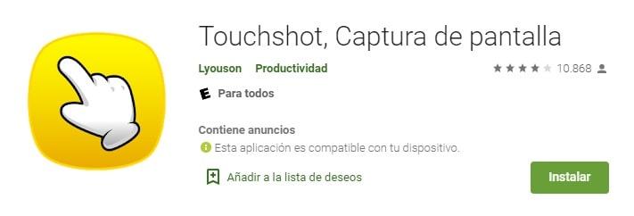 Aplicación Touchshot