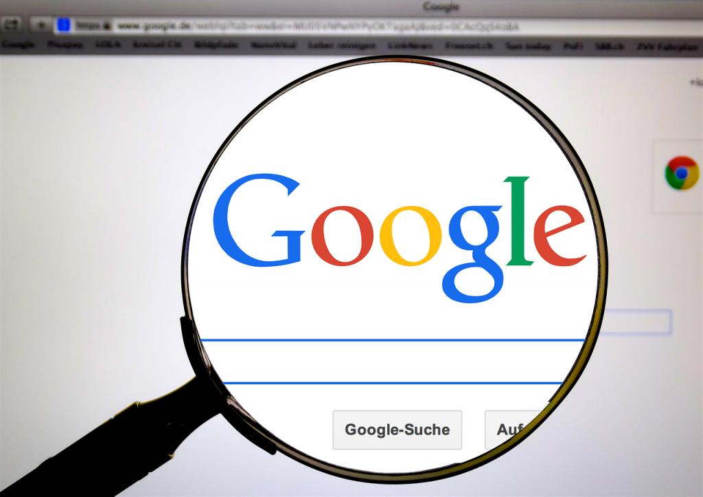 Logo Google con lupa