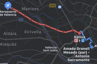 Apple Maps valencia recorrido metro